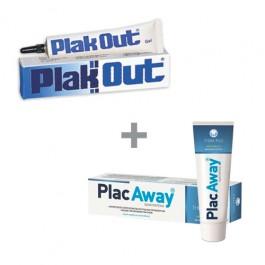 【セット商品】Plak Out ジェル & Plac Away 歯磨き粉
